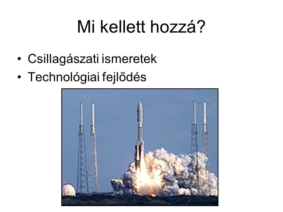 Mi kellett hozzá? •Csillagászati ismeretek •Technológiai fejlődés