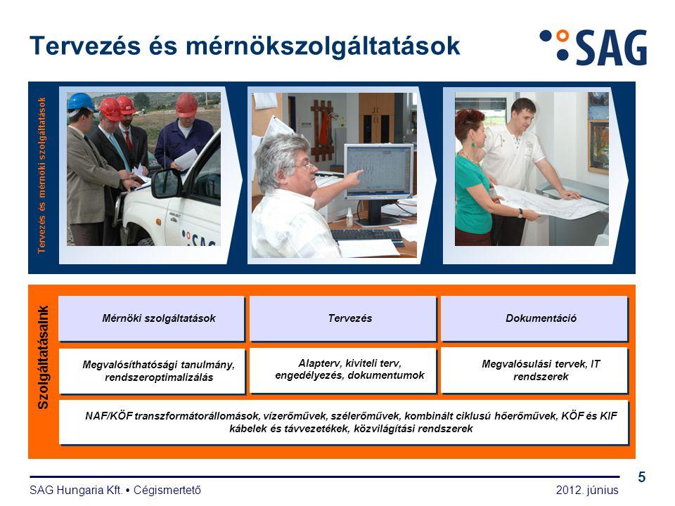 2012. június SAG Hungaria Kft.  Cégismertető 5 Tervezés és mérnökszolgáltatások Tervezés és mérnöki szolgáltatások Szolgáltatásaink Tervezés Dokument