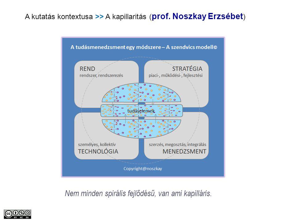 Copyright veryzoltan@gmail.com A kutatás kontextusa >> A kapillaritás ( prof. Noszkay Erzsébet ) Nem minden spirális fejlődésű, van ami kapilláris.