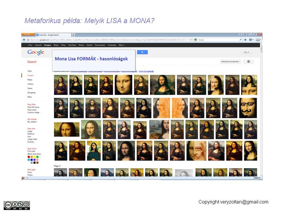 Copyright veryzoltan@gmail.com Metaforikus példa: Melyik LISA a MONA?