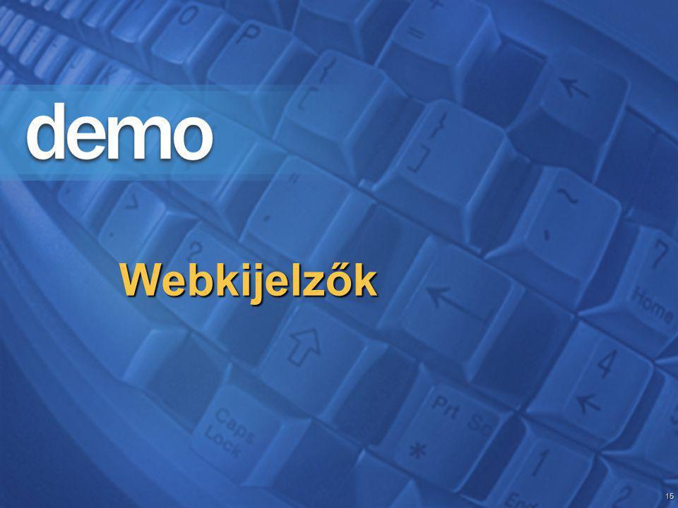 15 Webkijelzők