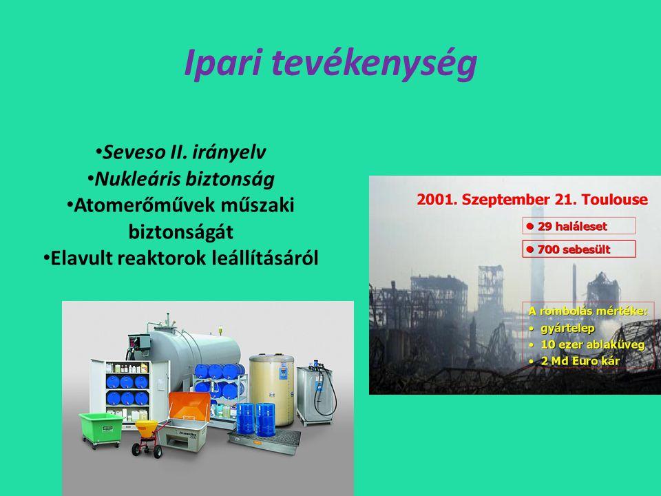 Ipari tevékenység • Seveso II.