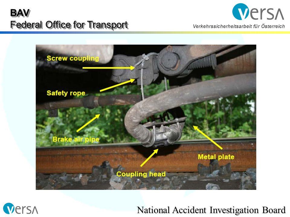 BAV Federal Office for Transport National Accident Investigation Board Verkehrssicherheitsarbeit für Österreich