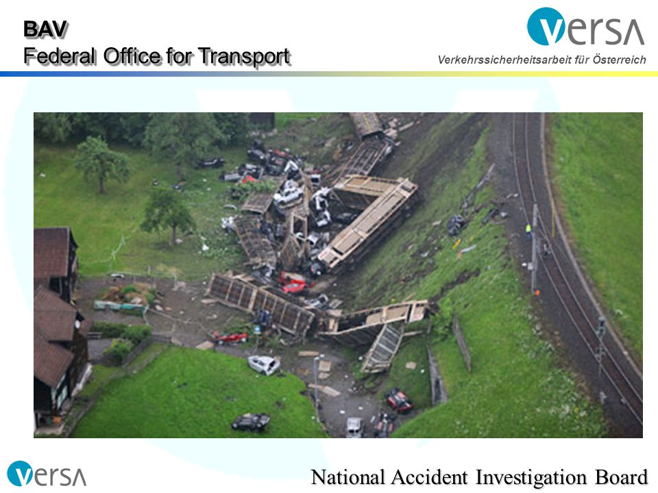 BAV Federal Office for Transport National Accident Investigation Board Verkehrssicherheitsarbeit für Österreich