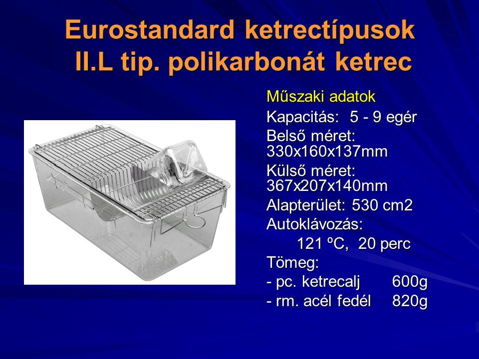 Eurostandard ketrectípusok II.L tip.