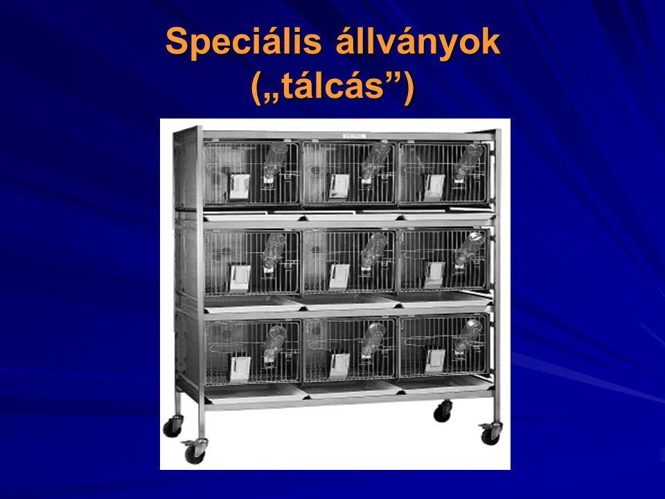 """Speciális állványok (""""tálcás )"""