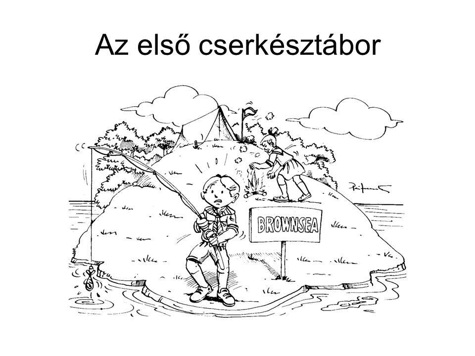 Az első cserkésztábor