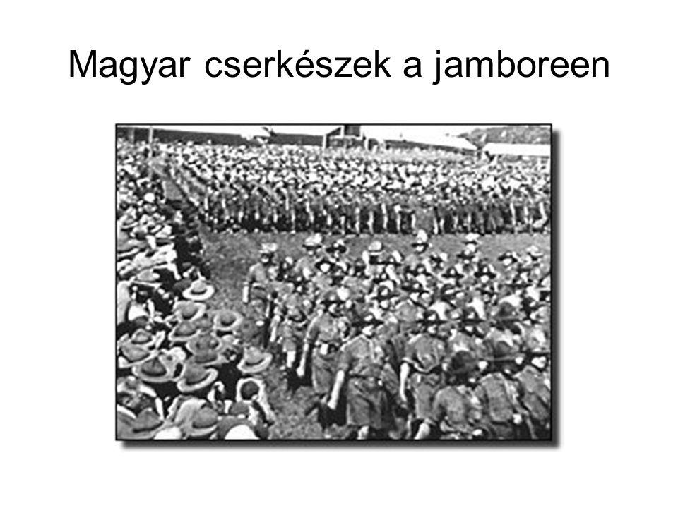 Magyar cserkészek a jamboreen