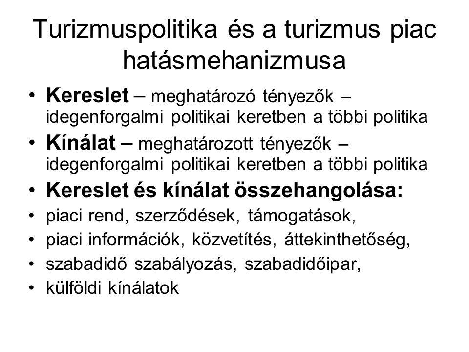 A turizmuspolitika fajtái •Pragmatikus Tp.