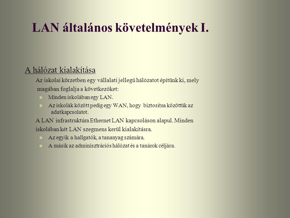 LAN általános követelmények II.