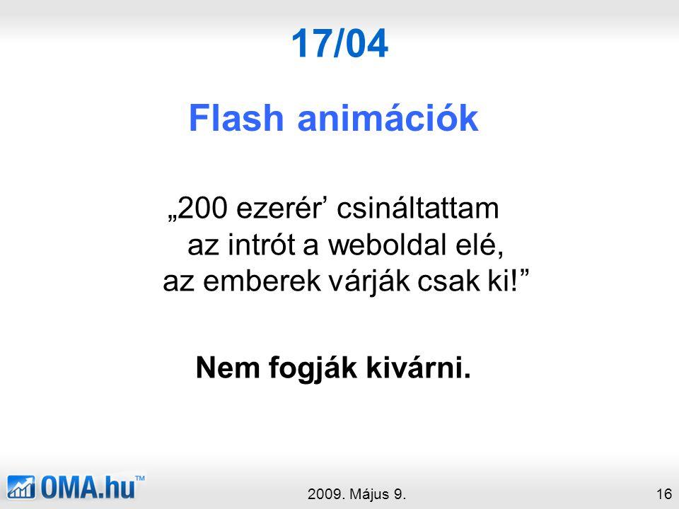 17/04 Flash animációk 2009.