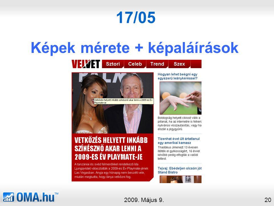 17/05 Képek mérete + képaláírások 2009. Május 9.20