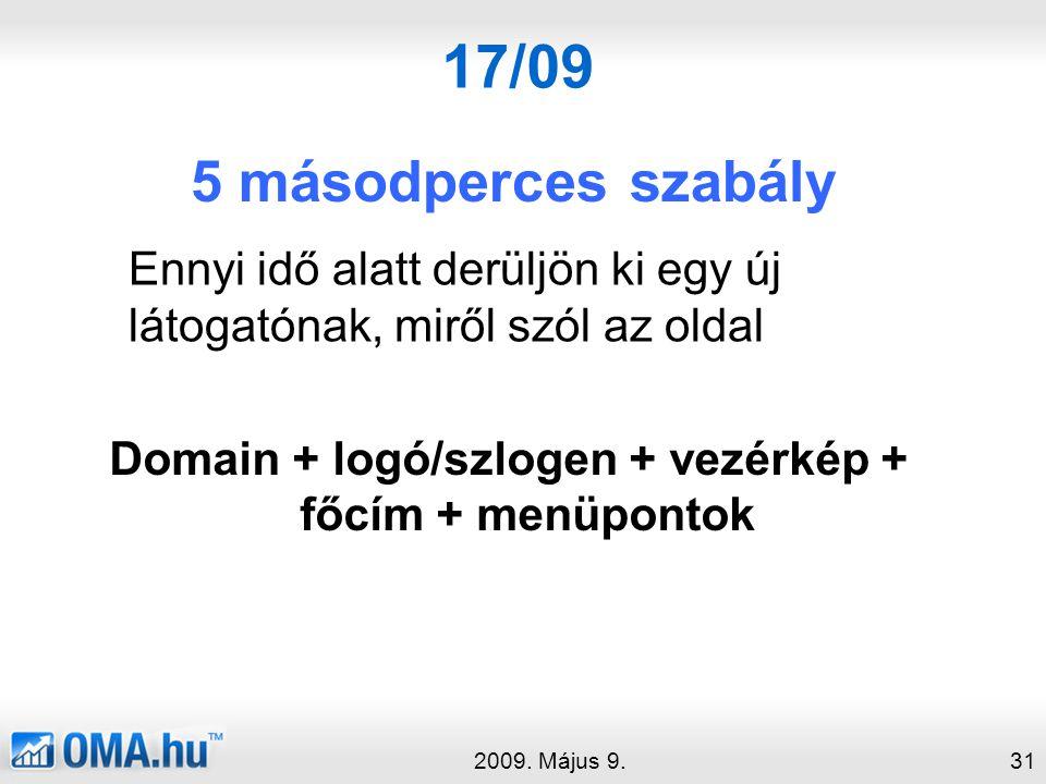 17/09 5 másodperces szabály 2009.