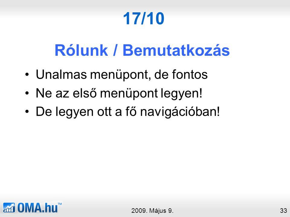 17/10 Rólunk / Bemutatkozás 2009.