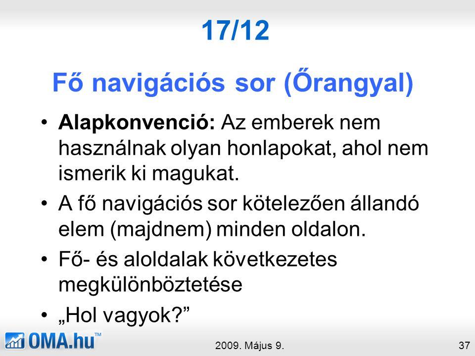 17/12 Fő navigációs sor (Őrangyal) 2009.