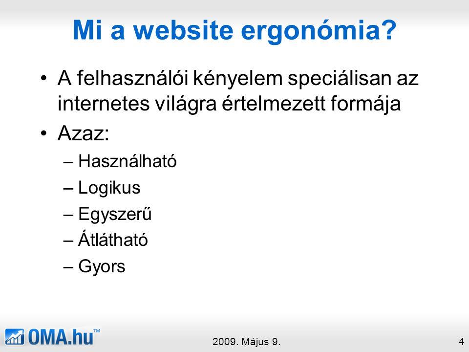 Mi a website ergonómia.