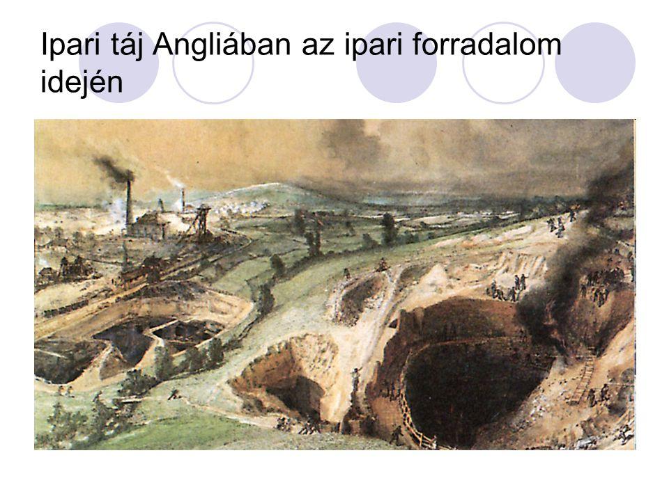 Ipari táj Angliában az ipari forradalom idején