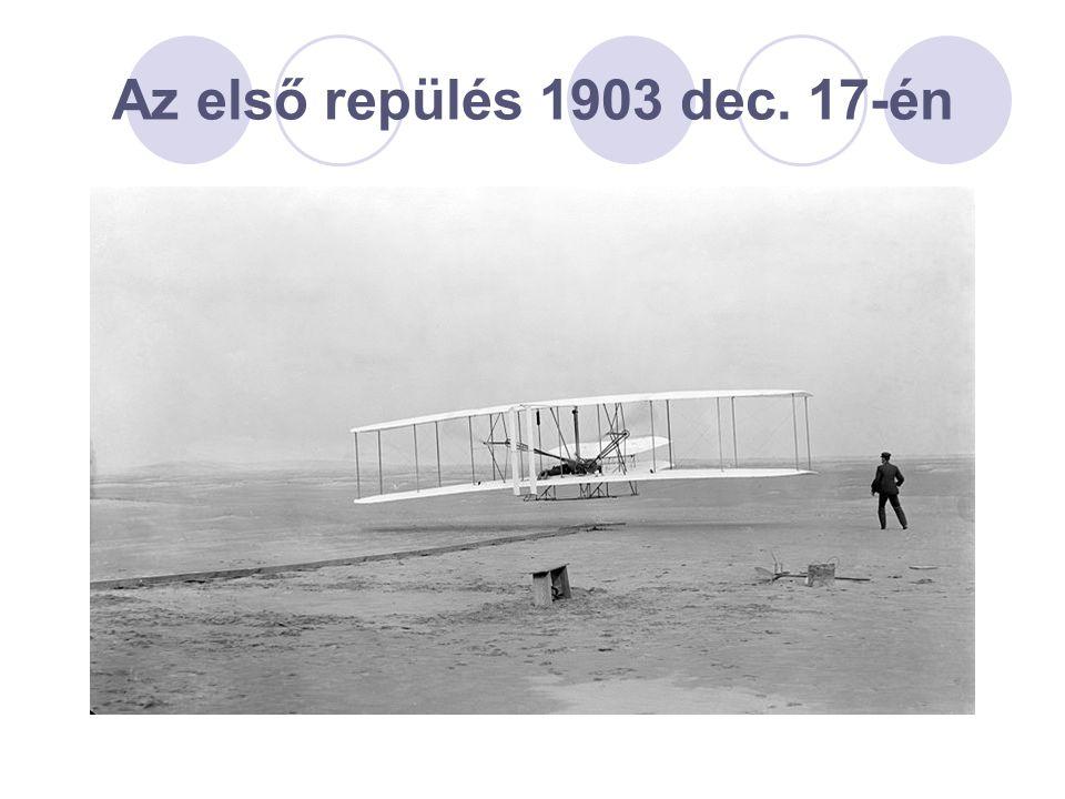 Az első repülés 1903 dec. 17-én