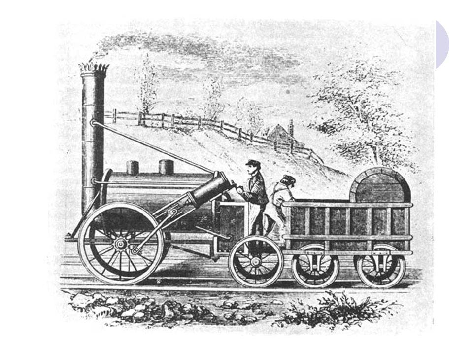 Közlekedés forradalma: Első vasútvonal, 1825, Stephenson