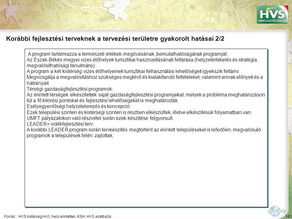 145 A program tartalmazza a természeti értékek megóvásának, bemutathatóságának programját.