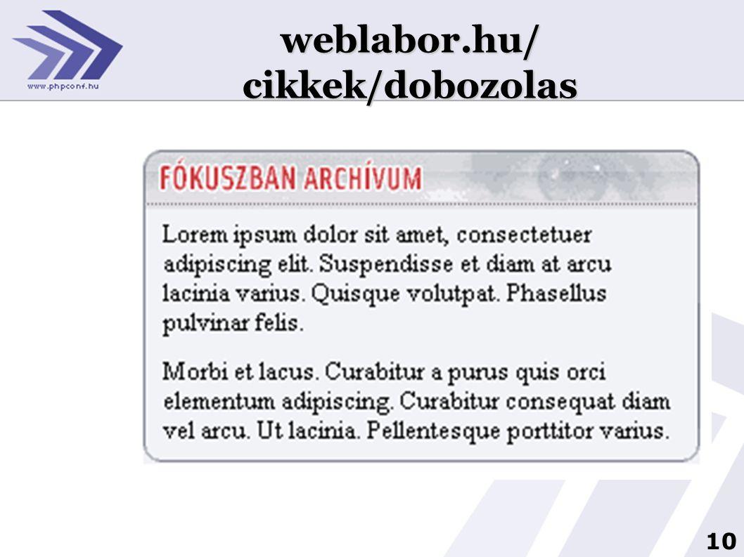 10 1 weblabor.hu/ cikkek/dobozolas