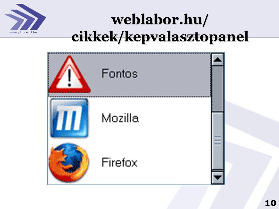 10 2 weblabor.hu/ cikkek/kepvalasztopanel