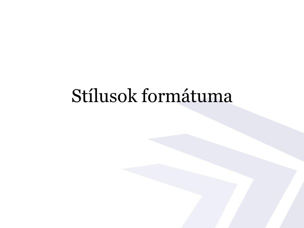 Stílusok formátuma