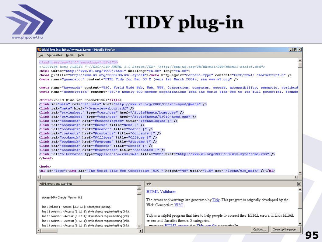 95 TIDY plug-in