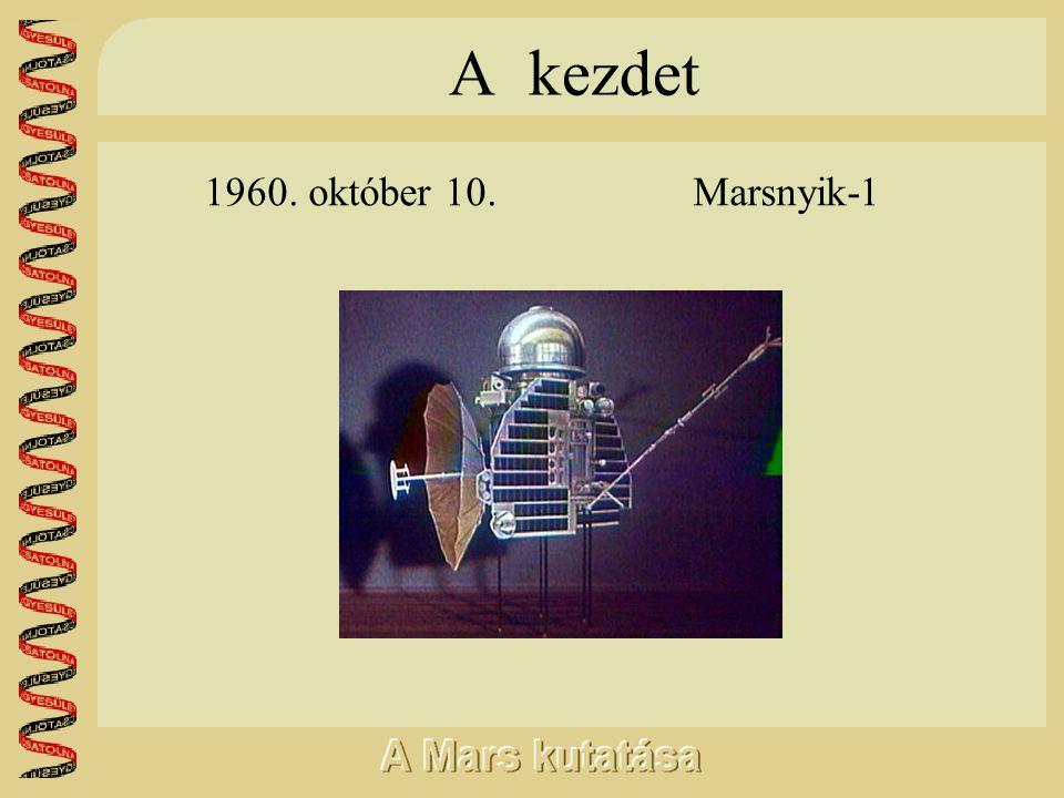 A kezdet 1960. október 10. Marsnyik-1