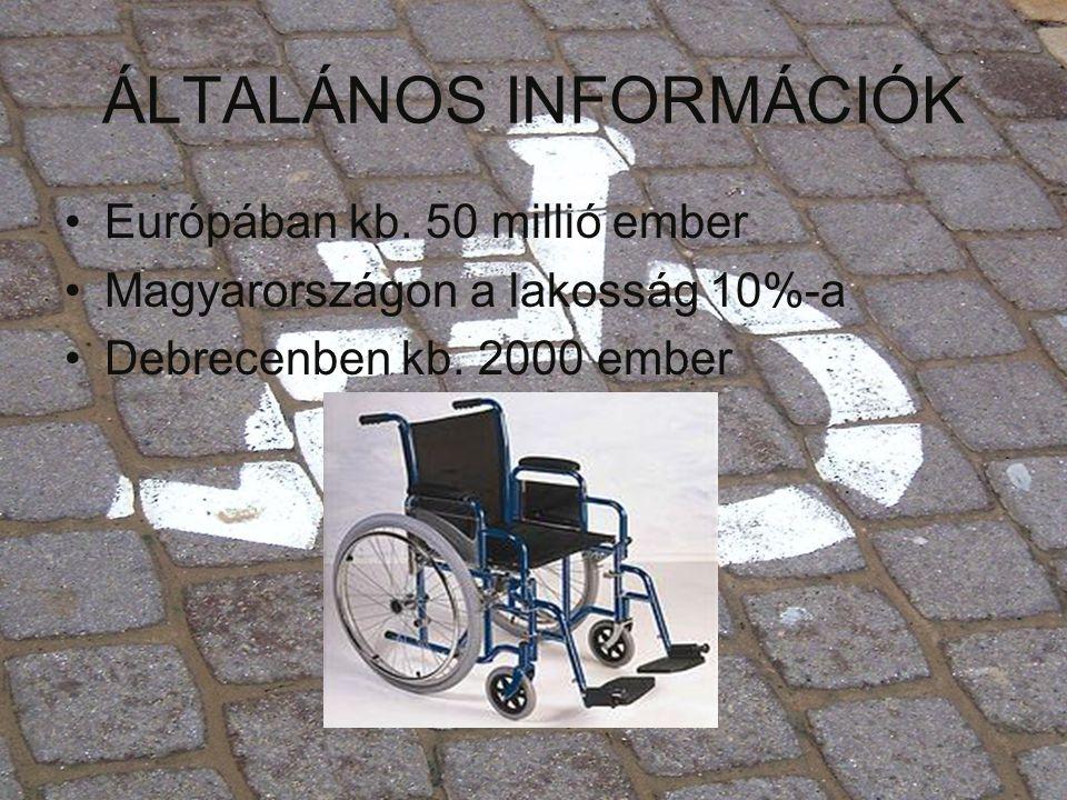 ÁLTALÁNOS INFORMÁCIÓK •Európában kb. 50 millió ember •Magyarországon a lakosság 10%-a •Debrecenben kb. 2000 ember