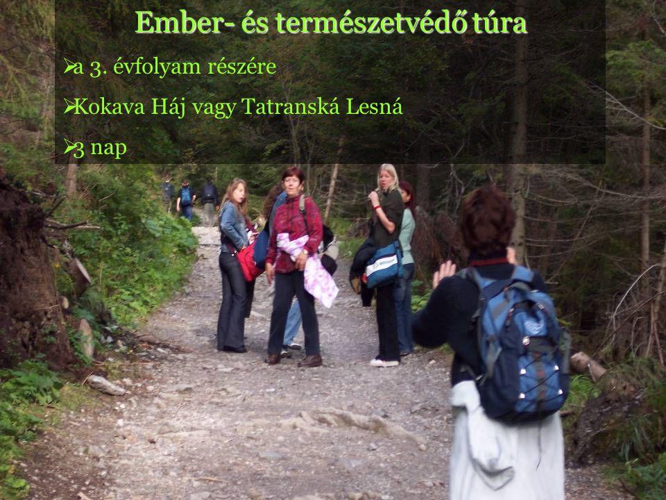 Ember- és természetvédő túra  a 3. évfolyam részére  Kokava Háj vagy Tatranská Lesná  3 nap