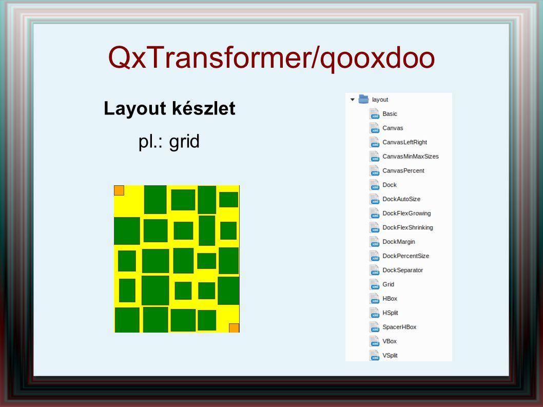 QxTransformer/qooxdoo Layout készlet pl.: grid
