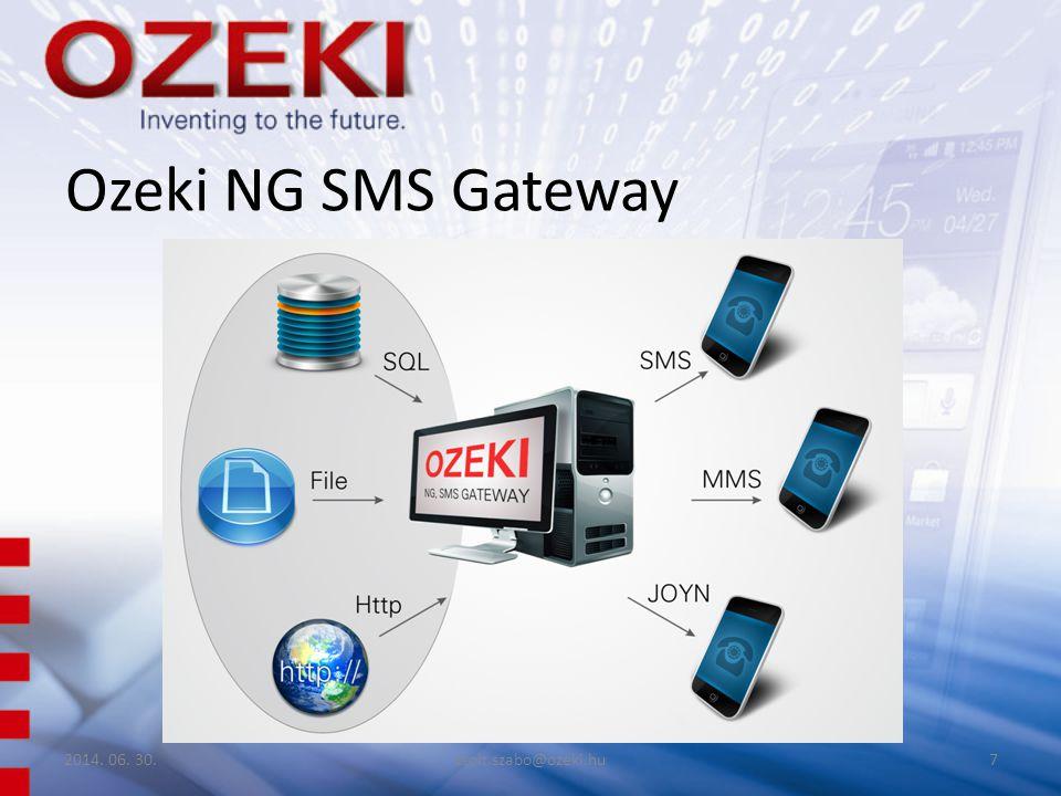 Ozeki NG SMS Gateway 2014. 06. 30.zsolt.szabo@ozeki.hu7