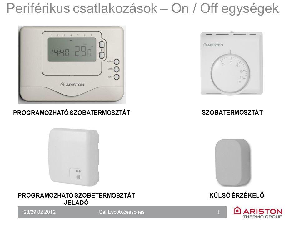 28/29 02 2012Gal Evo Accessories 2 Periférikus elemek: modulációs eszközök SENSYS (ÚJ CLIMA MANAGER) SZOBAI ÉRZÉKELŐ
