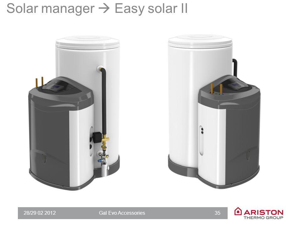 28/29 02 2012Gal Evo Accessories 35 Solar manager  Easy solar II