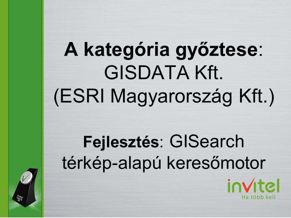 A kategória győztese: GISDATA Kft.