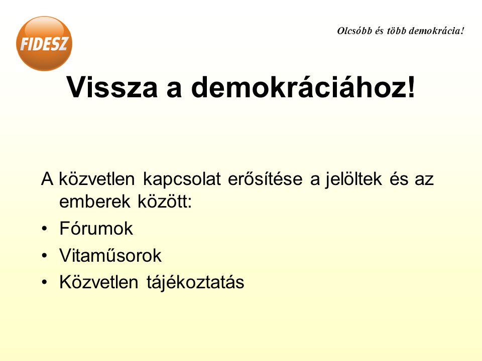 Vissza a demokráciához.