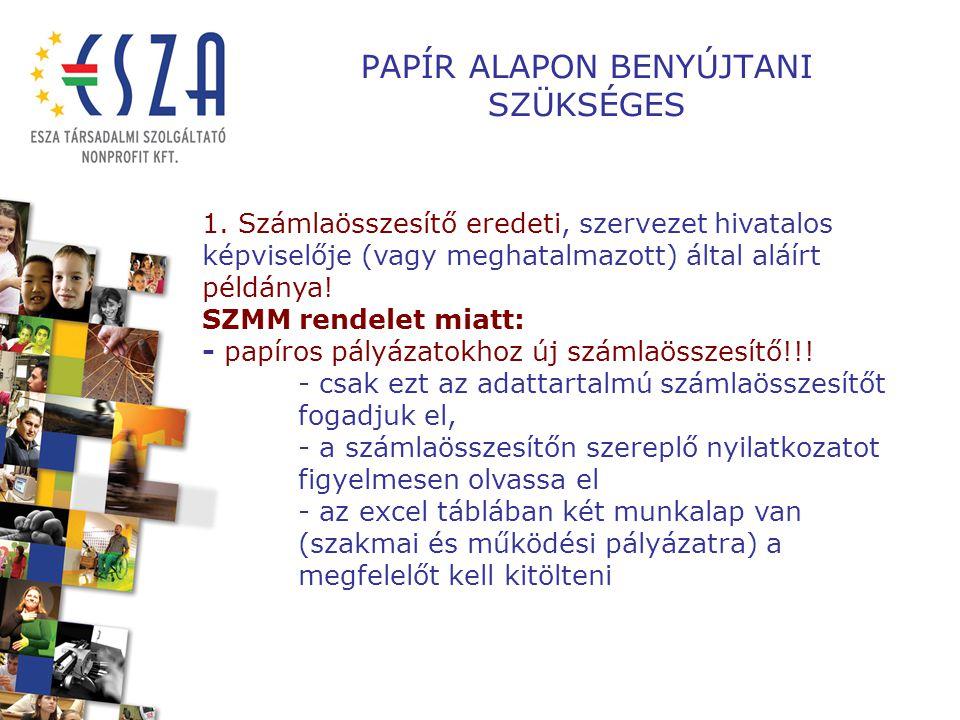 PAPÍR ALAPON BENYÚJTANI SZÜKSÉGES 1.
