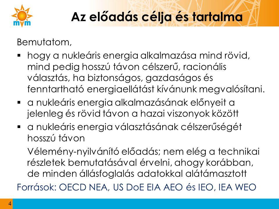 Az új energiapolitika A Kormány:...