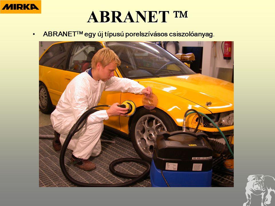 ABRANET  •ABRANET TM egy új típusú porelszívásos csiszolóanyag.