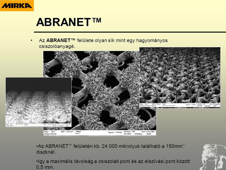 ABRANET™ •Az ABRANET™ felülete olyan sík mint egy hagyományos csiszolóanyagé.