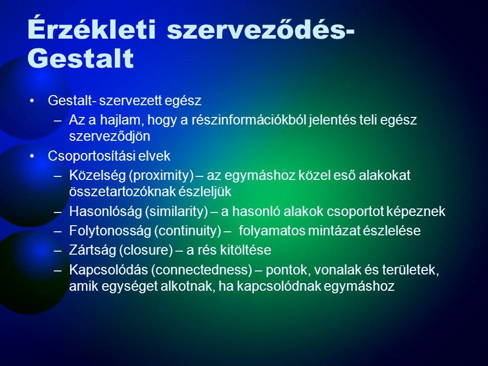 Érzékleti szerveződés - Gestalt csoportosítás