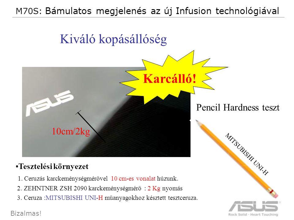 15 Bizalmas.Pencil Hardness teszt •Tesztelési környezet 1.