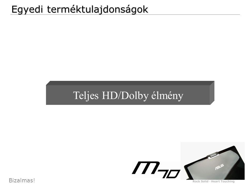 24 Bizalmas! Egyedi terméktulajdonságok Teljes HD/Dolby élmény
