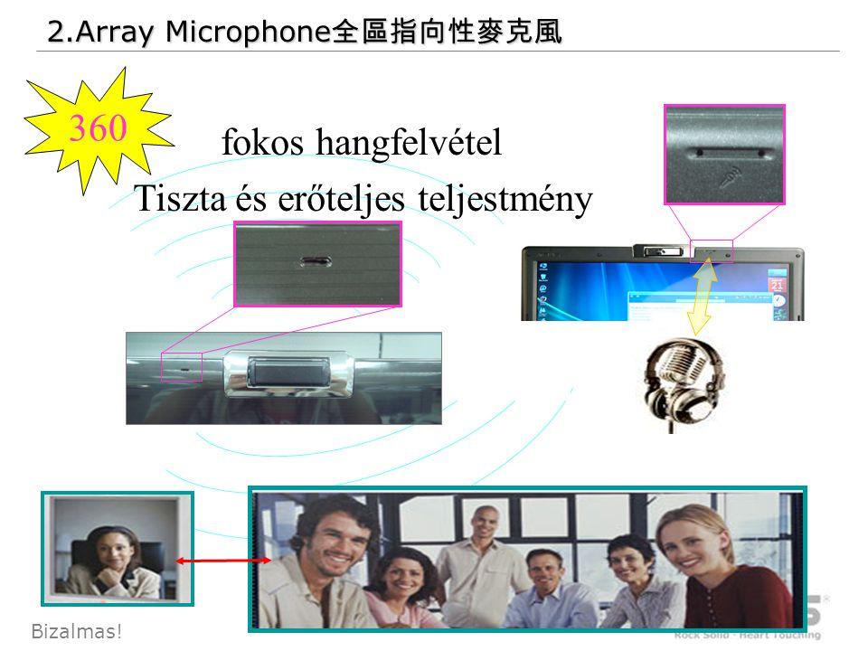 57 Bizalmas! 2.Array Microphone 全區指向性麥克風 360 fokos hangfelvétel Tiszta és erőteljes teljestmény