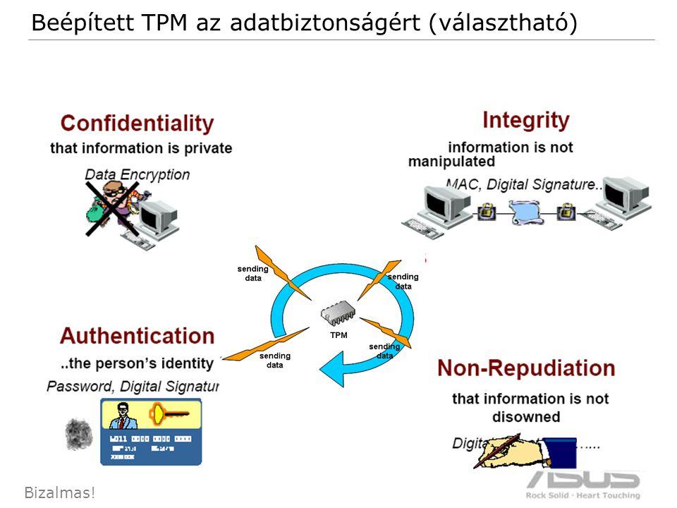 93 Bizalmas! Beépített TPM az adatbiztonságért (választható)