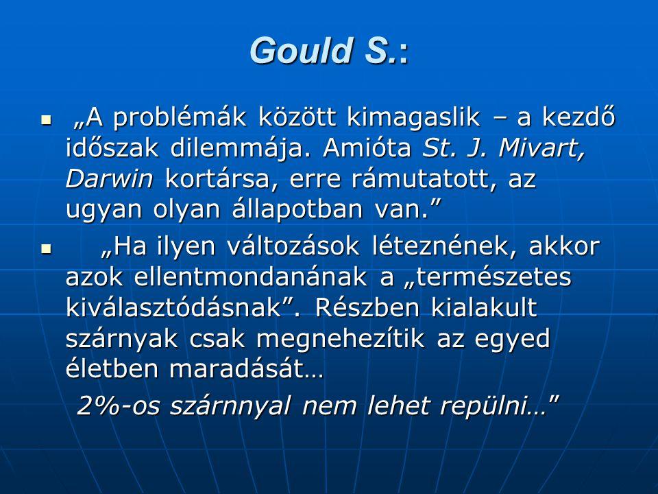 """Gould S.:  """"A problémák között kimagaslik – a kezdő időszak dilemmája."""