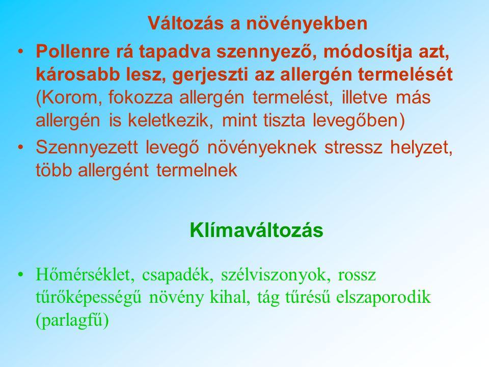Közlekedés és allergia -A por, a kén-dioxid, az ózon és a nitrogén-oxidok károsítják a nyálkahártyát, csökkentik a csillószőrök aktivitását és ezáltal