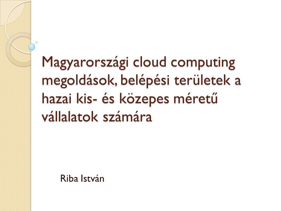 Magyarországi cloud computing megoldások, belépési területek a hazai kis- és közepes méretű vállalatok számára Riba István