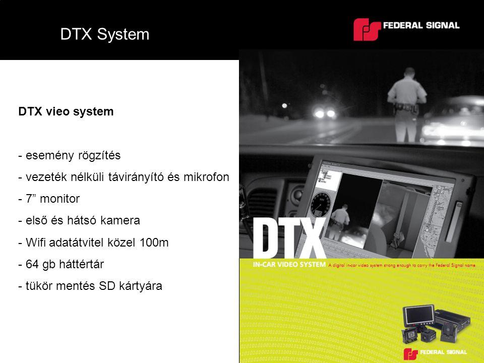 """DTX System DTX vieo system - esemény rögzítés - vezeték nélküli távirányító és mikrofon - 7"""" monitor - első és hátsó kamera - Wifi adatátvitel közel 1"""